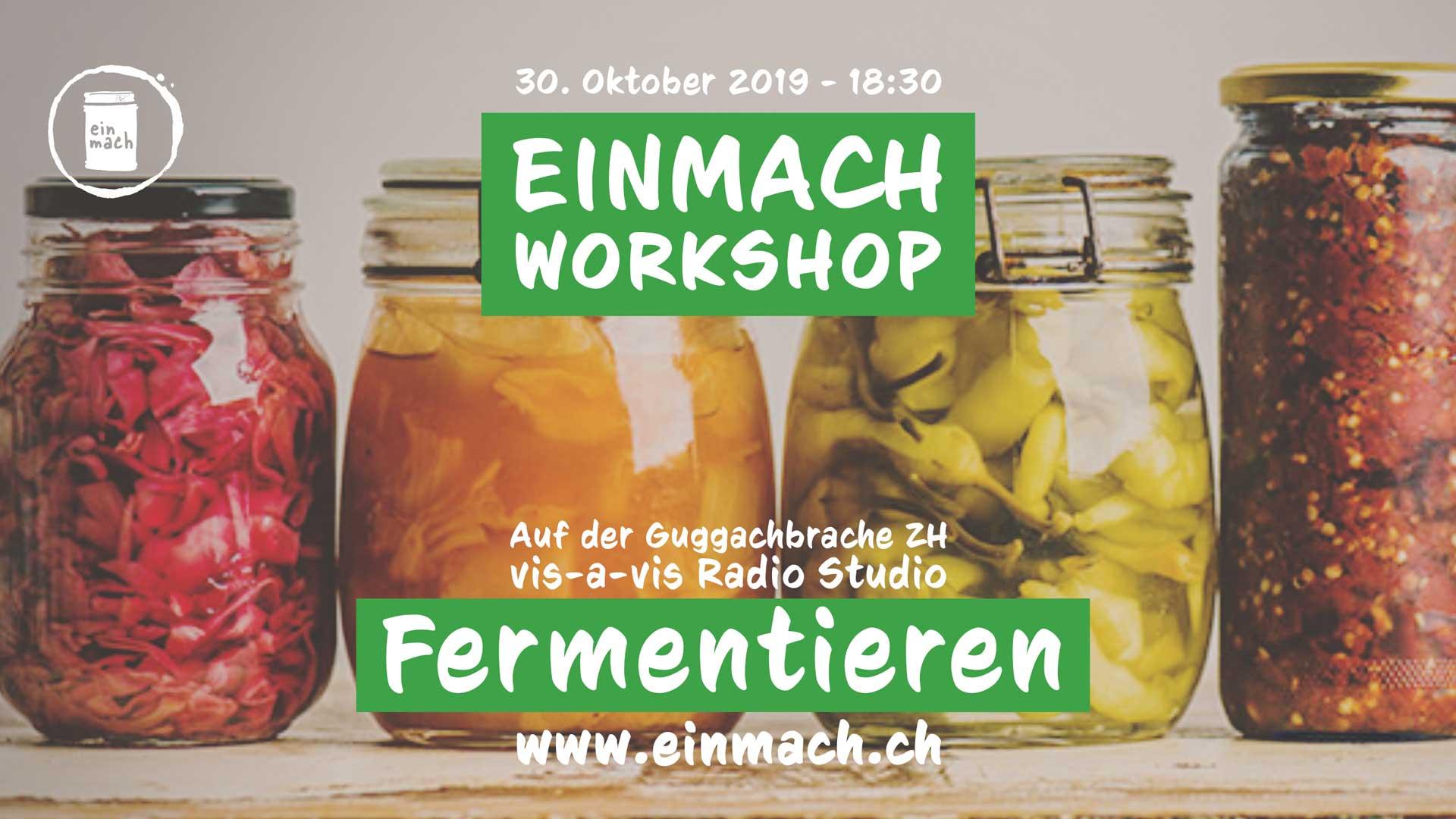 Einmach Workshop – 30. Oktober 2019 – Fermentieren