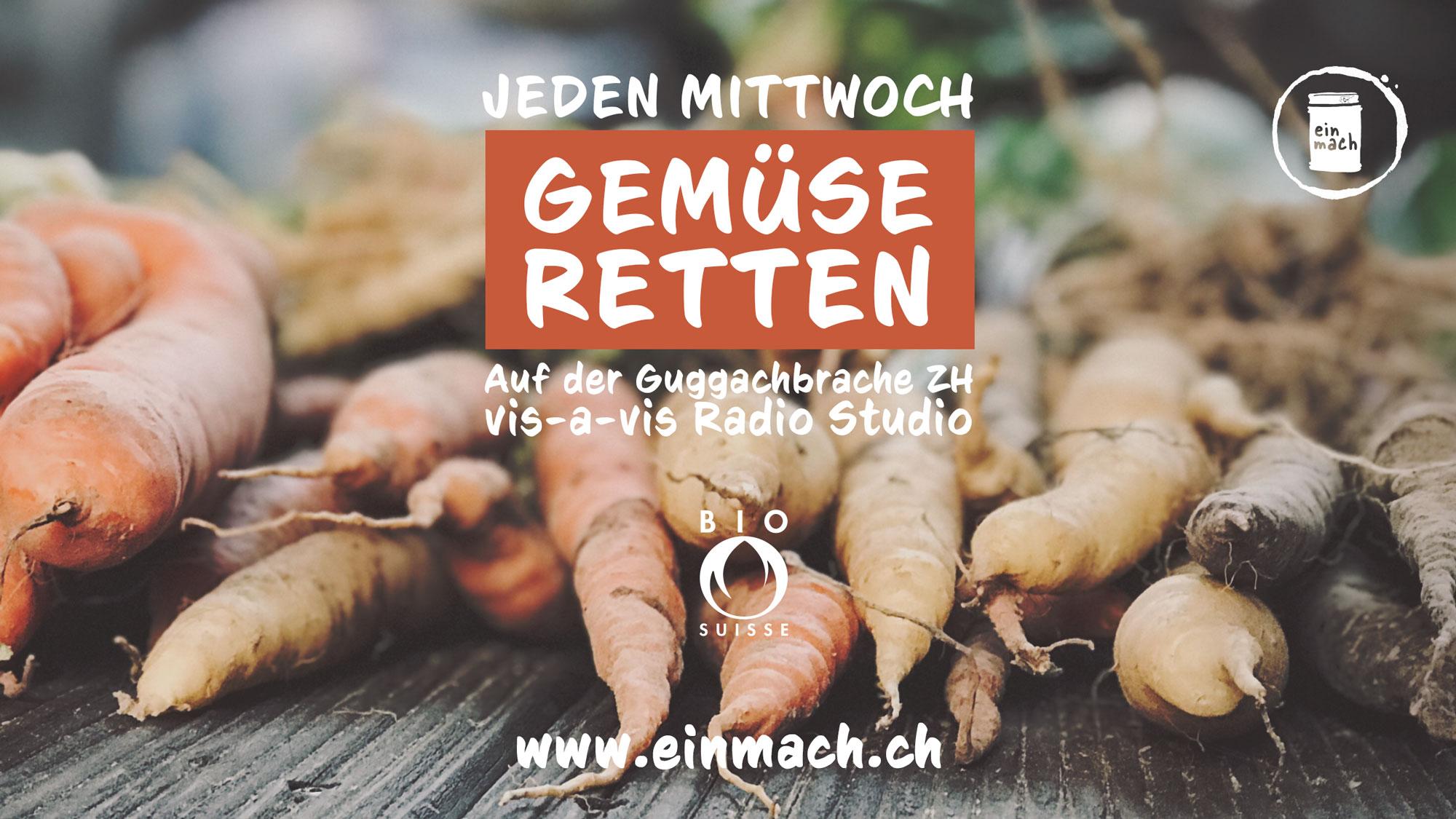 Jede Mittwoch – Bio Gmües & Pilz uf de Guggach Brache rette