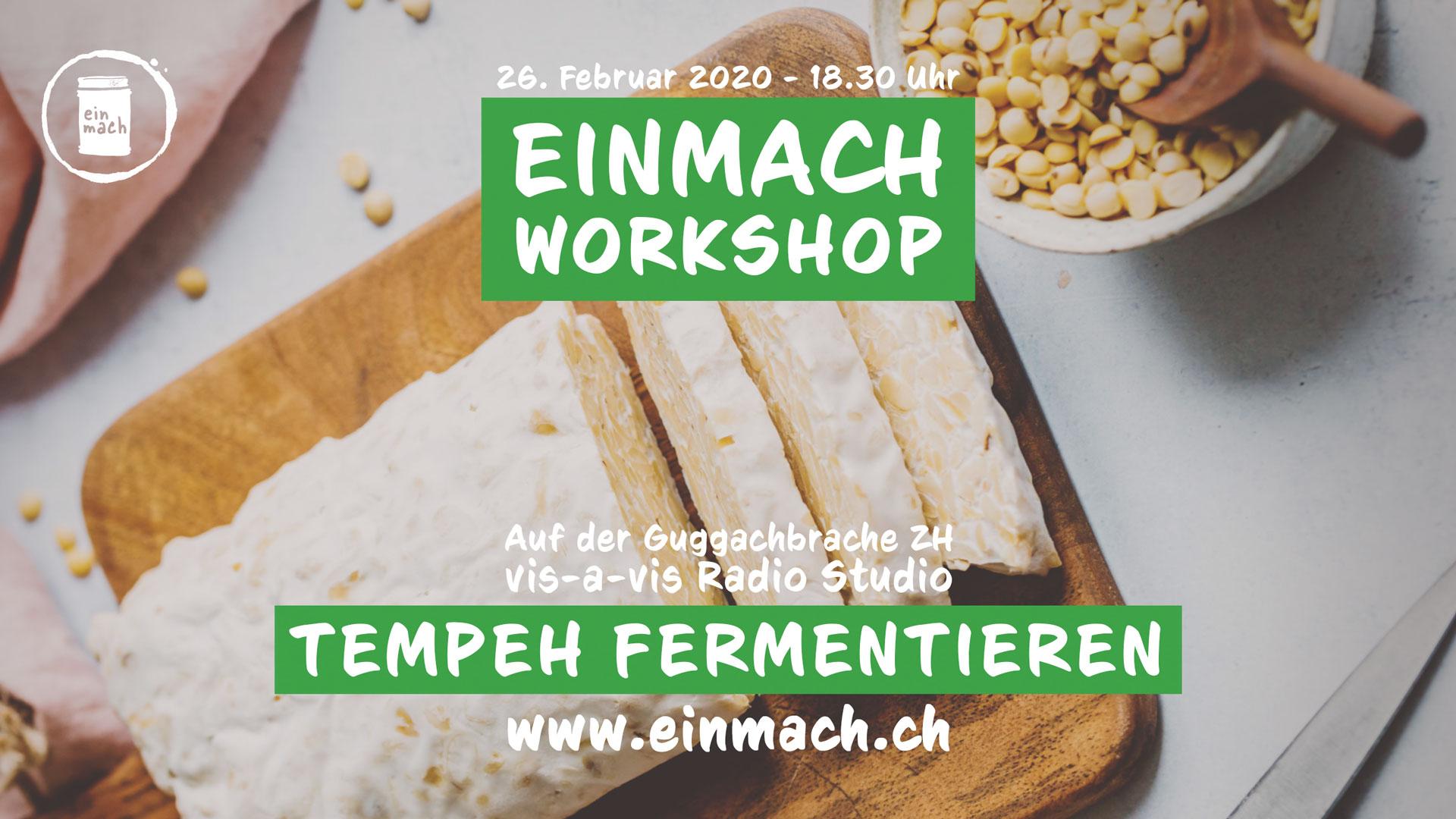 Einmach Workshop – 26. Februar 2020 – Tempeh fermentieren
